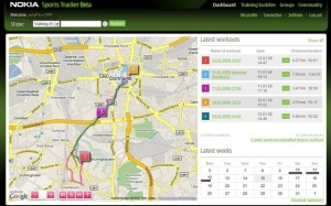 Nokia Sports Tracker Webseite